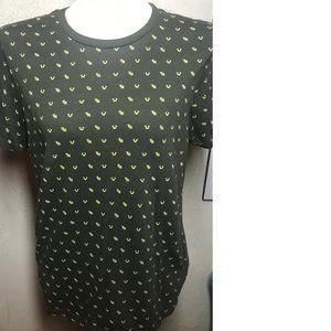 True Religion Dk Green Knit Brand U Jean Shirt